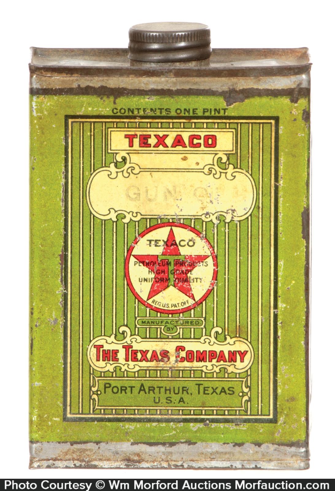 Texaco Gun Oil Tin