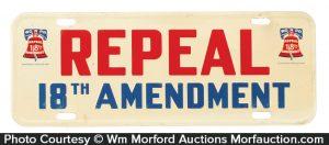 Anti Prohibition License Plate