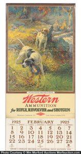 1925 Western Ammo Calendar