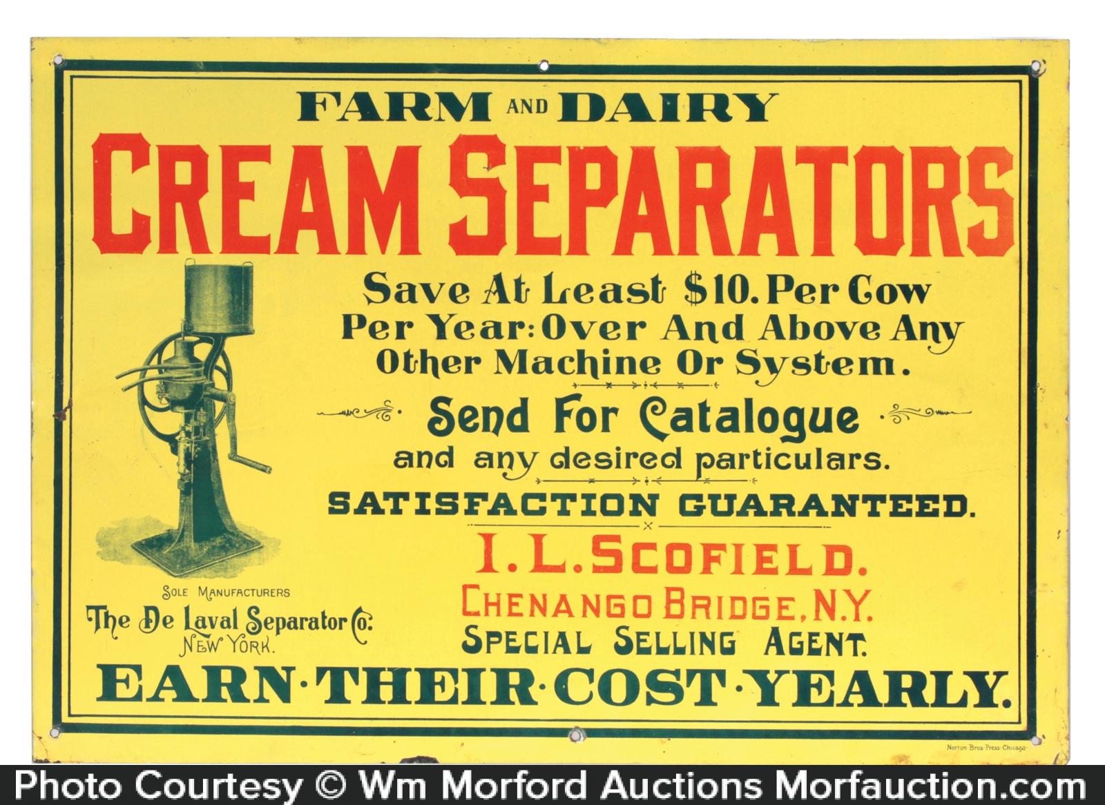 Antique advertising de laval sign antique advertising for De signs