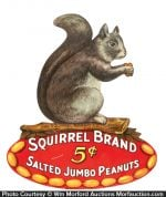 Squirrel Peanuts Die-Cut
