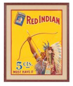 Red Indian Tobacco Sign