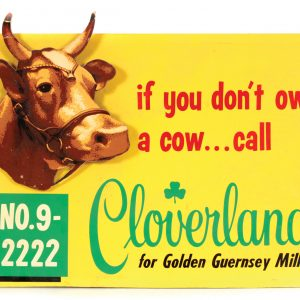Cloverland Dairy Sign