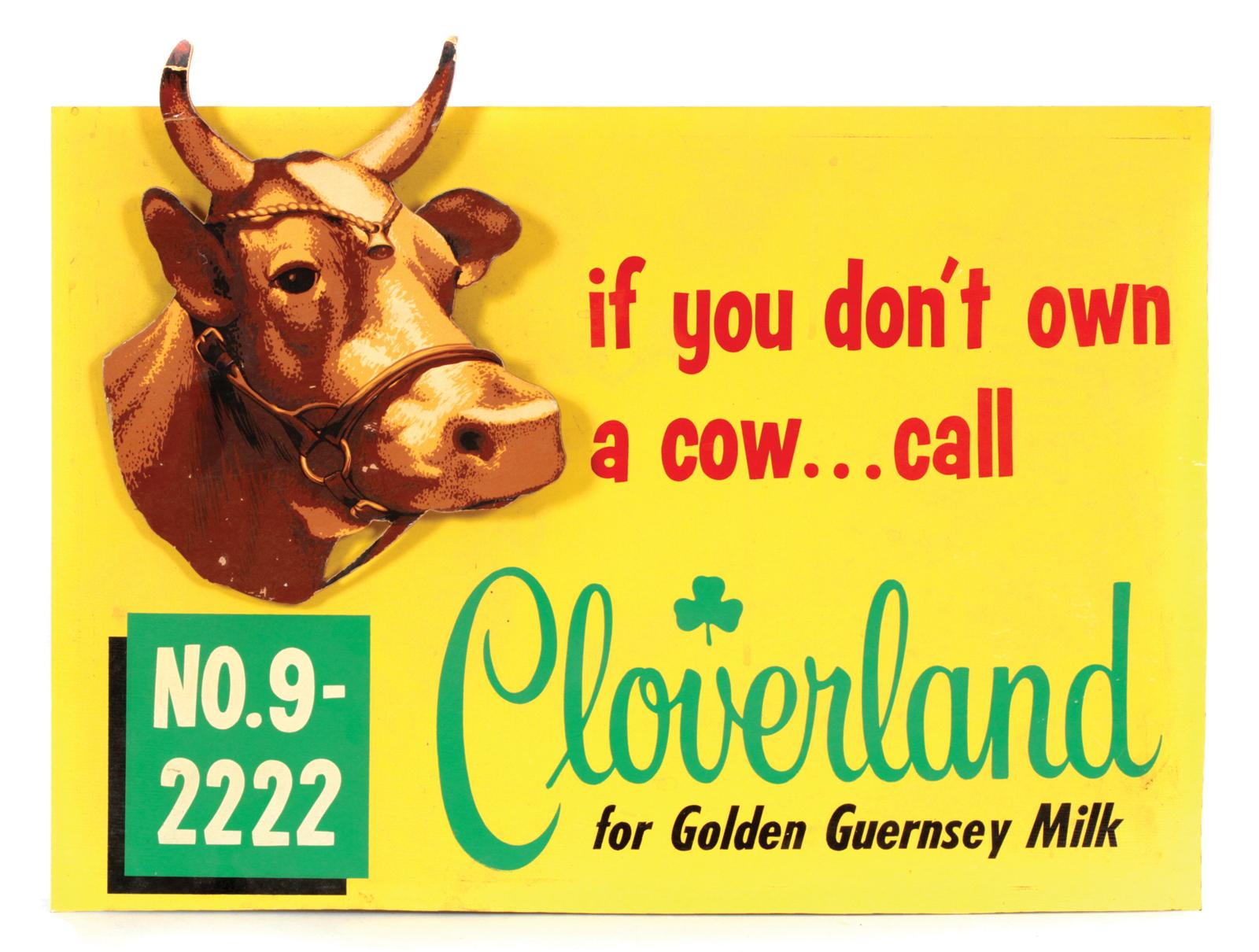Cloverland Dairy Sign