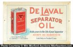 De Laval Separator Oil Sign