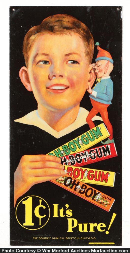 Oh Boy Gum Sign