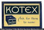 Kotex Sign