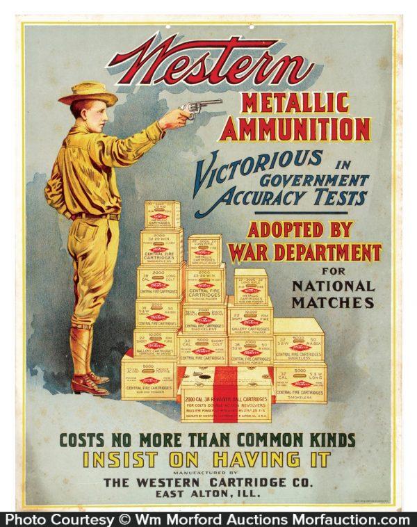 Western Ammunition Sign