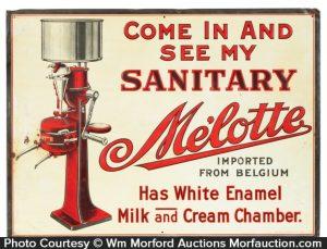 MeÕlotte Cream Separators Sign
