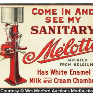 MeÕlotte Cream Separators Sign