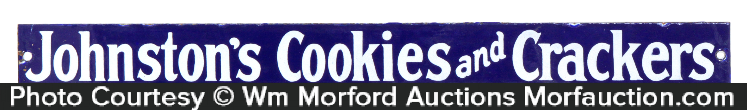 JohnstonÕs Cookies Porcelain Sign