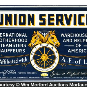 Teamsters Labor Union Sign