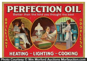 Perfection Oil Sign