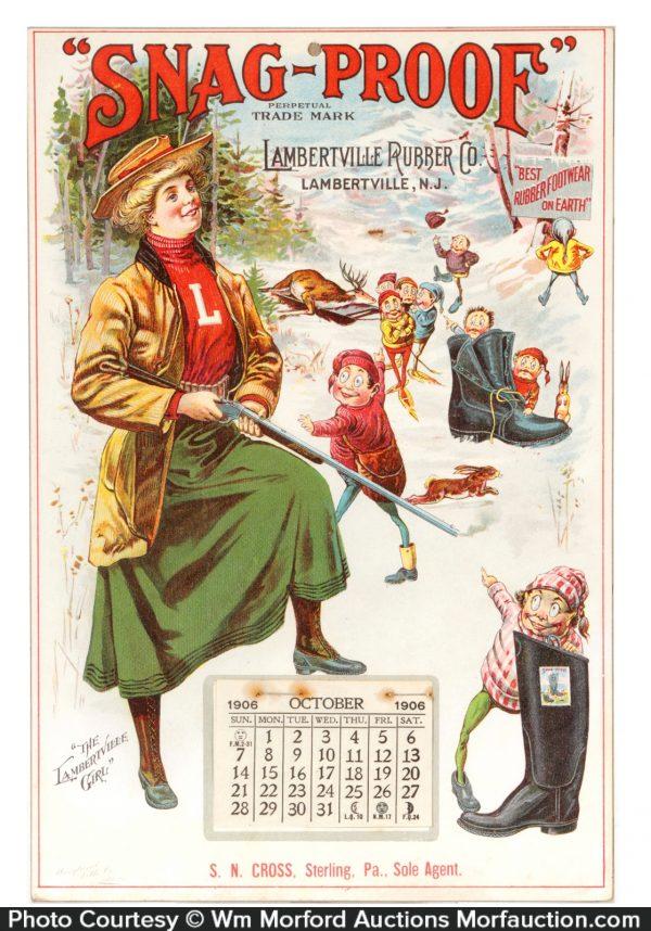 Lambertville Boots Calendar