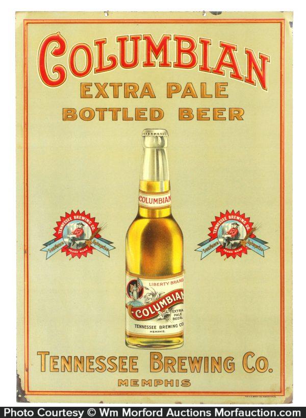 Columbian Beer Sign