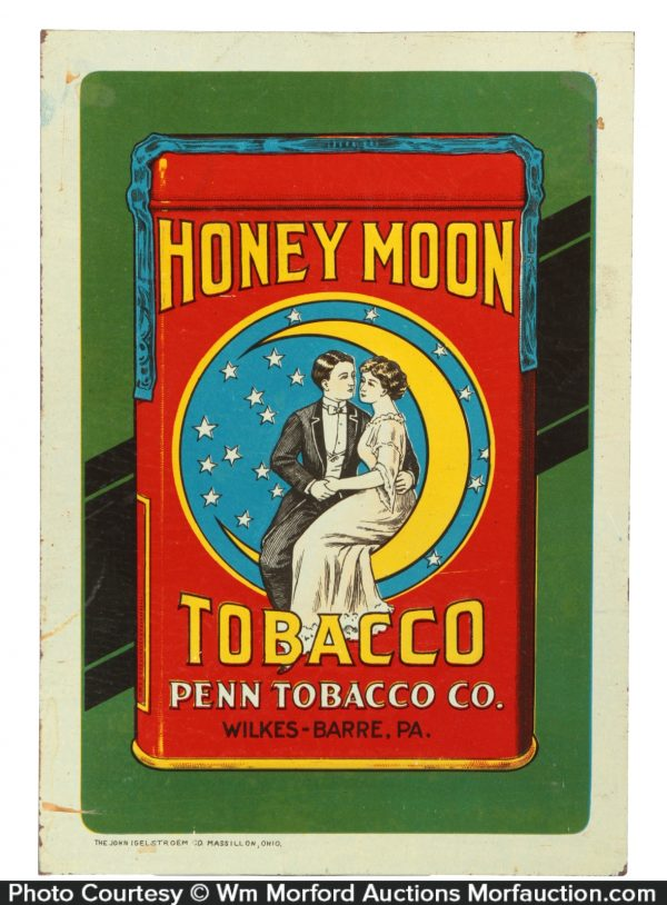 Honey Moon Tobacco Sign