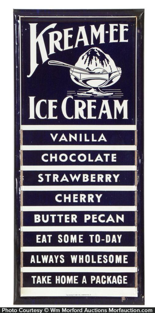 Kream-ee Ice Cream Sign