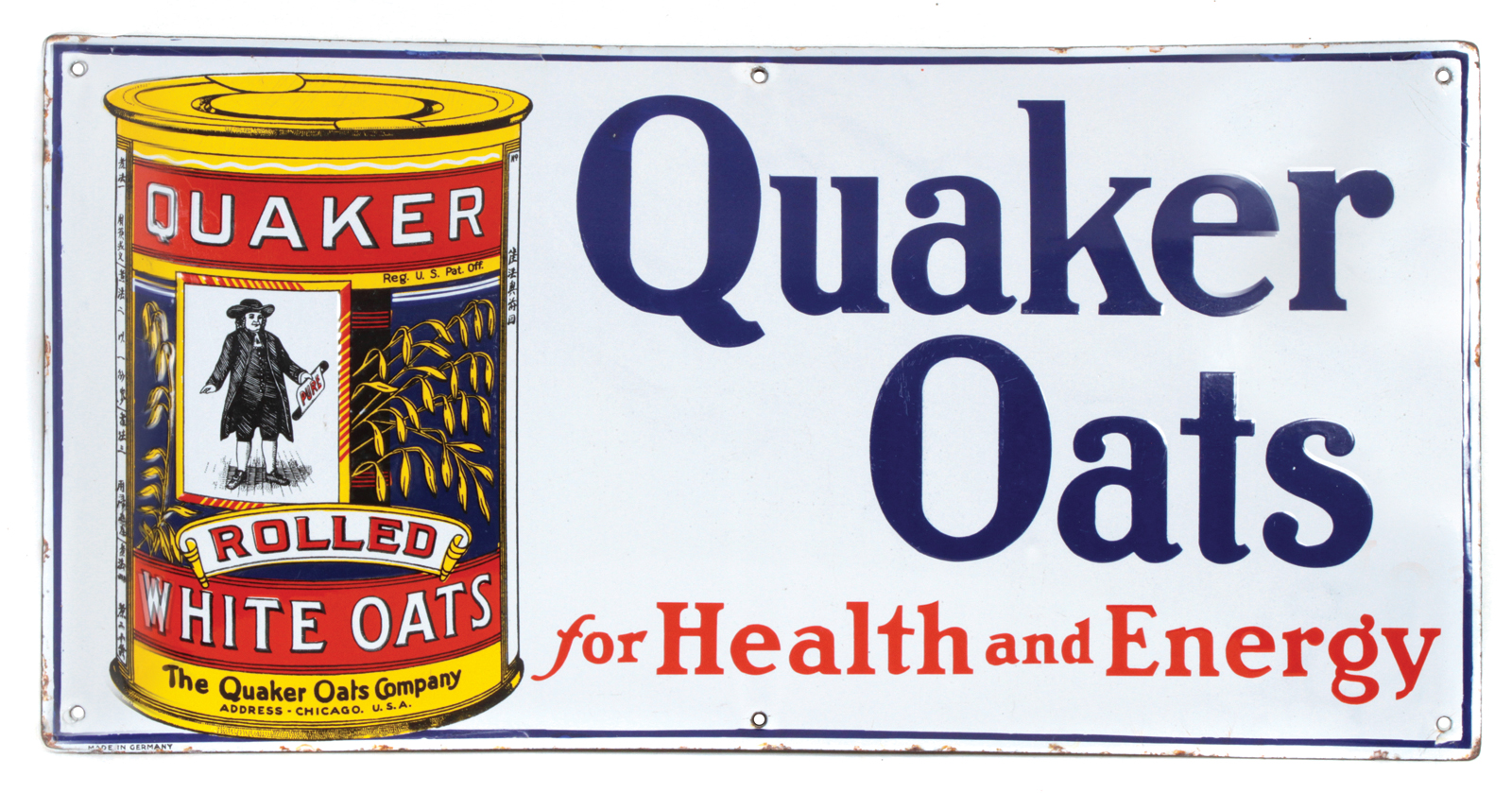 Quaker Oats Porcelain Sign