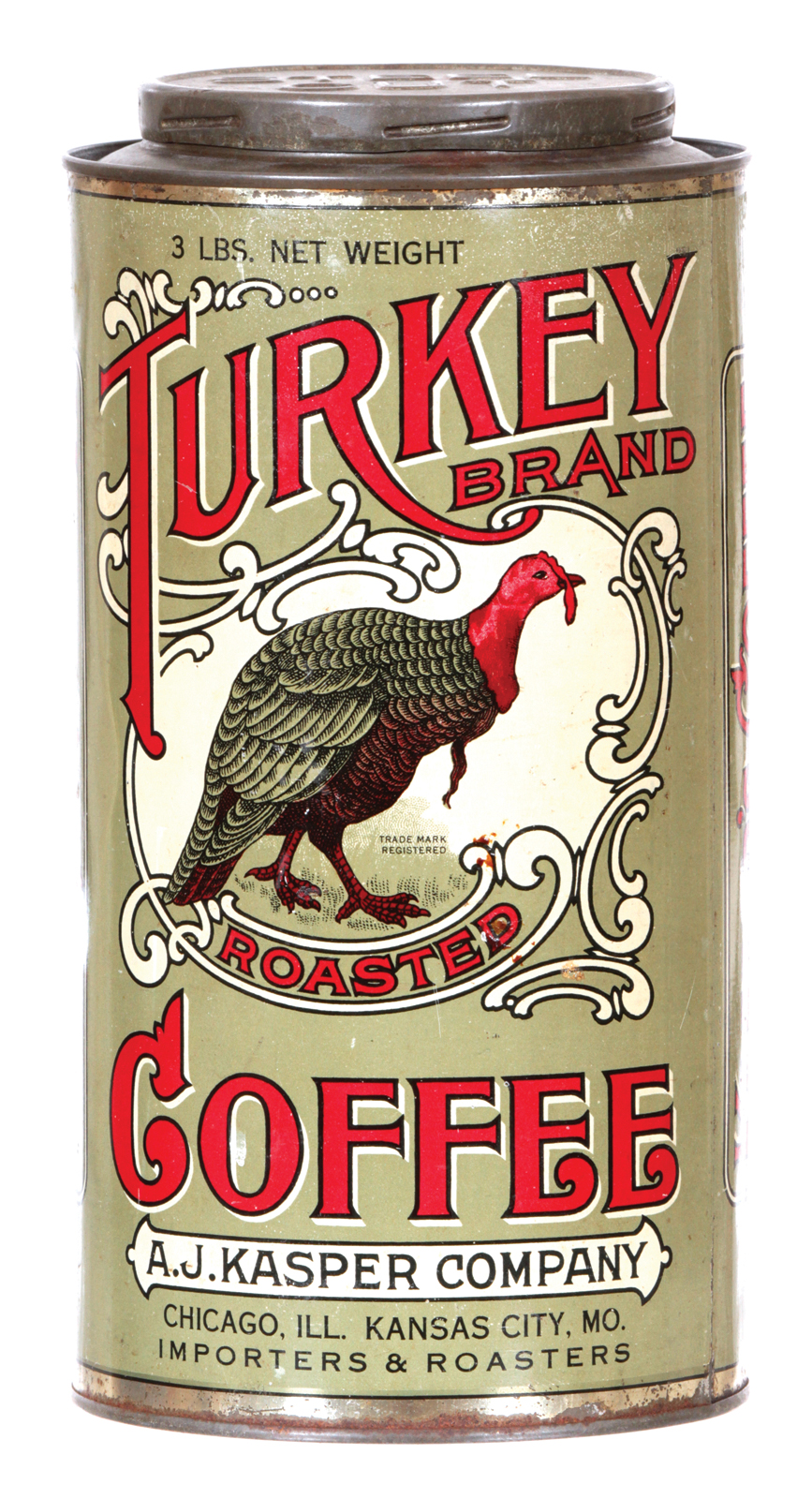 Antique Advertising | Turkey Coffee Tin • Antique Advertising