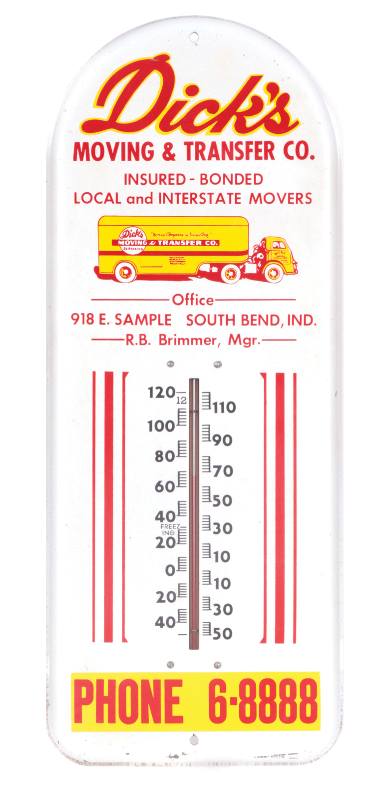 Moving Co. Thermometer