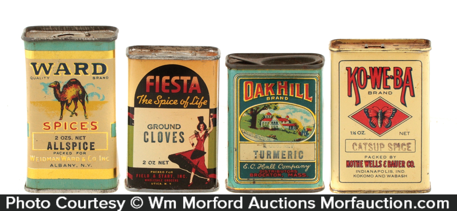 Spice Tins Lot