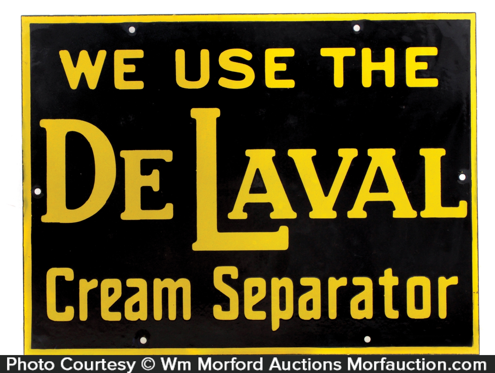 Porcelain De Laval Sign