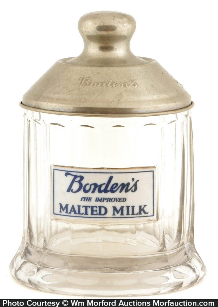 BordenÕs Malted Milk Jar