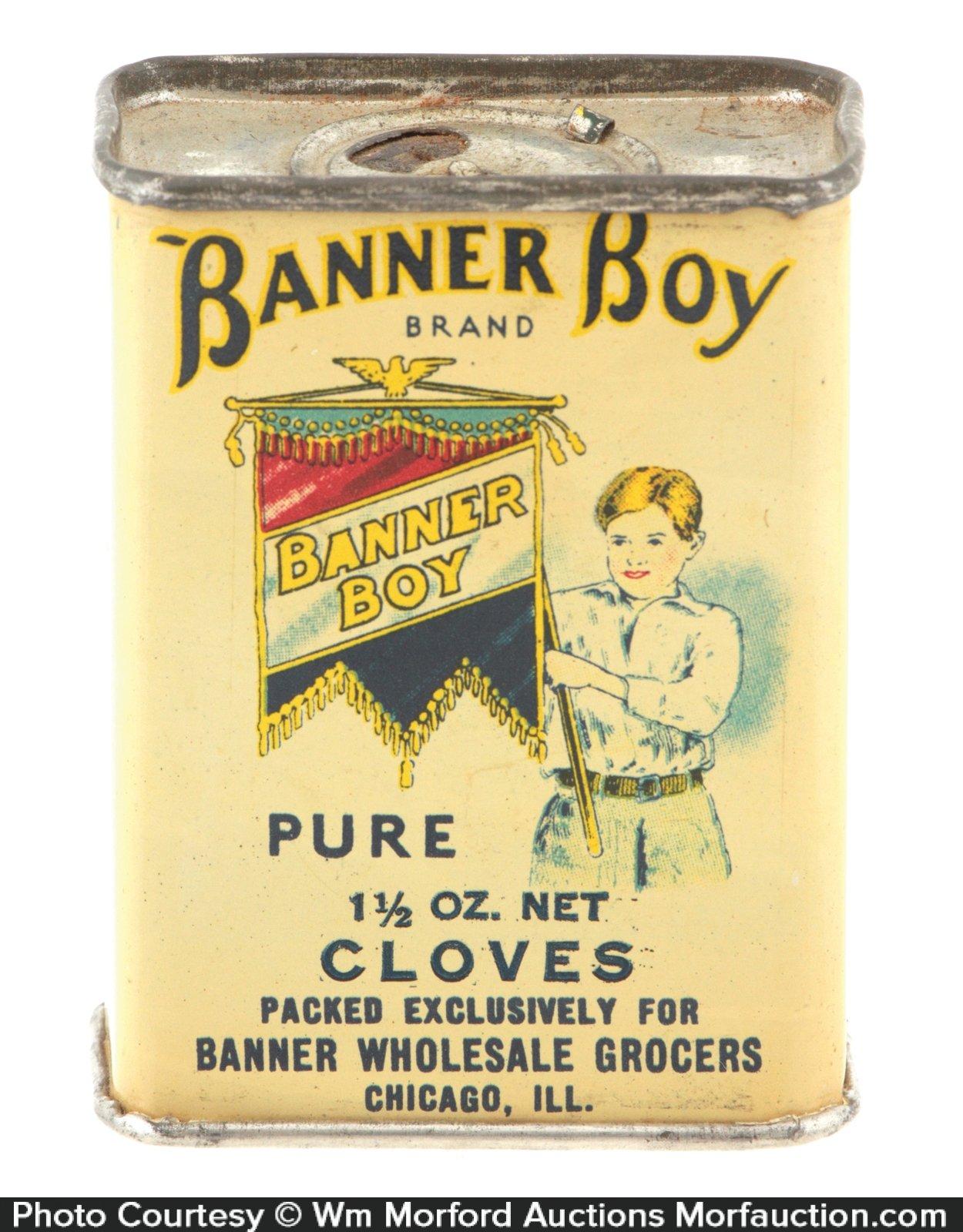 Banner Boy Spice Tin