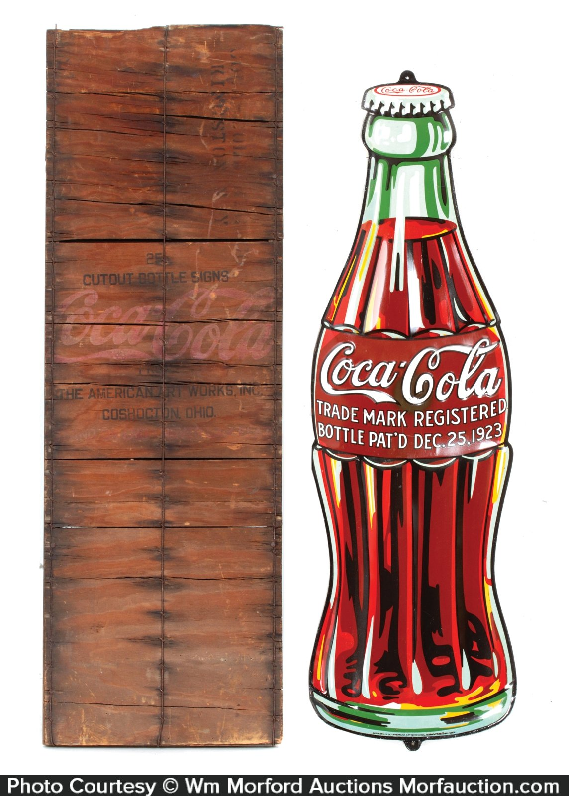 antique advertising coca cola 1923 bottle sign antique advertising. Black Bedroom Furniture Sets. Home Design Ideas