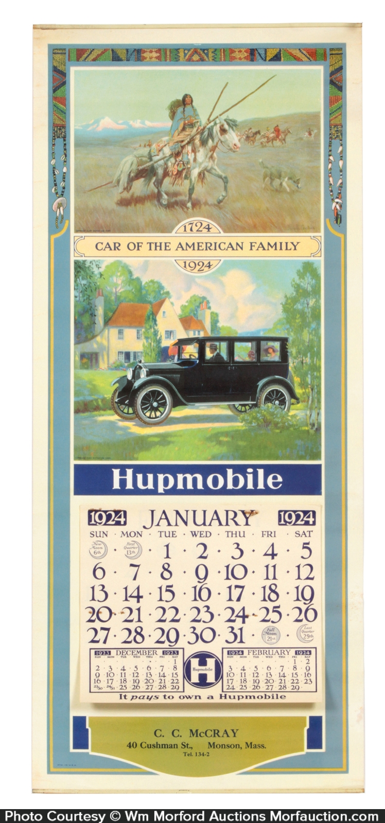 Antique Advertising | Hupmobile Calendar • Antique Advertising