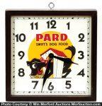 Pard Dog Food Clock
