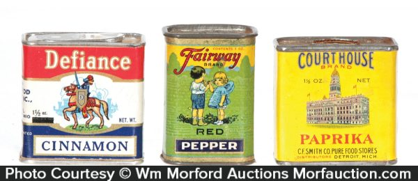 Paper Label Spice Tins