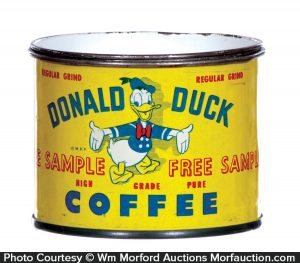 Donald Duck Coffee Sample Bank