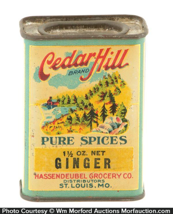 Cedar Hill Spice Tin