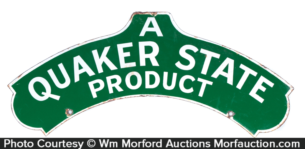 Quaker State Porcelain Sign