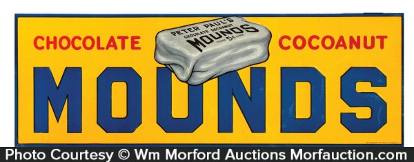 Mounds Candy Bars Sign