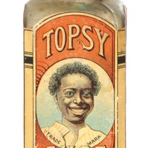 Topsy Shoe Polish Bottle