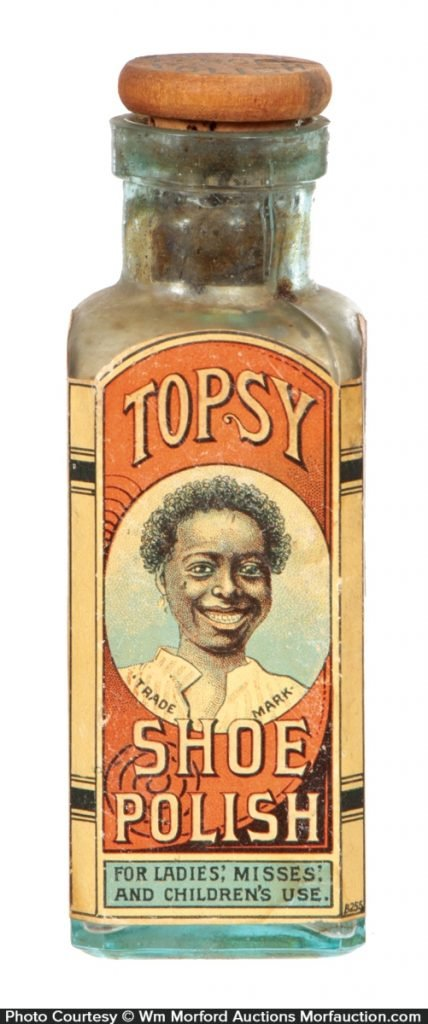 Topsy Shoe Polish Bottle