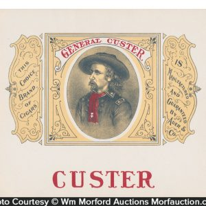 General Custer Cigar Box Label
