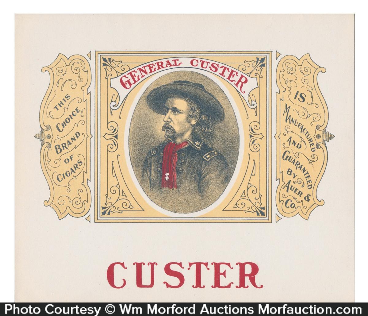 General Custer Cigar Box Label