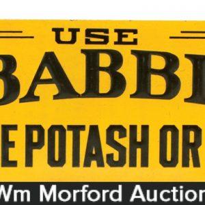 Babbitt's Soap Sign