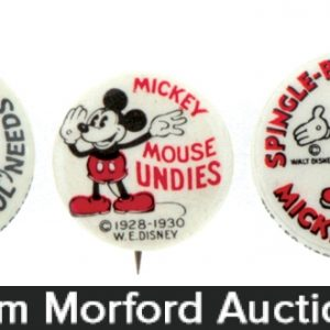 Mickey Mouse Advertising Pins