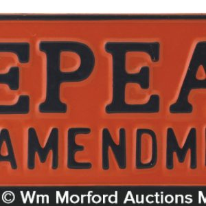 Anti Prohibition License Plate
