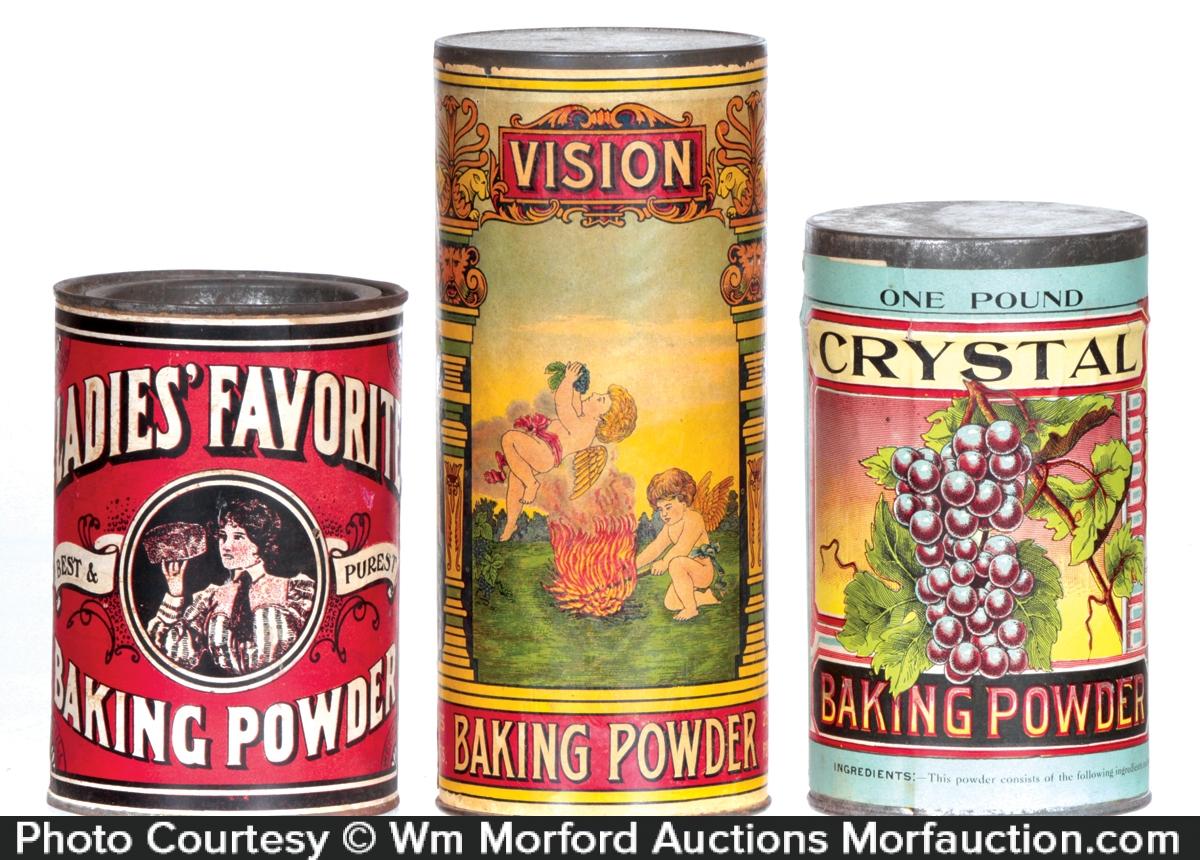 Antique Baking Powder Tins