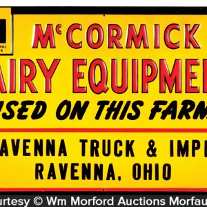 Mc Cormick Dairy Equipment Sign