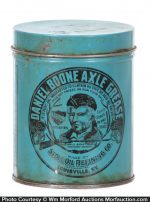 Daniel Boone Axle Grease Can