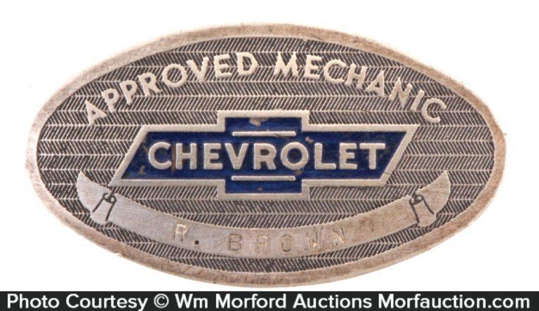 Chevrolet Mechanic Badge