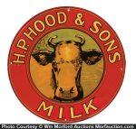Hood Dairy Sign