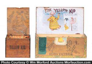 Yellow Kid Cigar Boxes