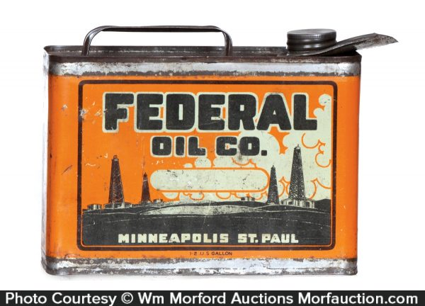 Federal Motor Oil Can
